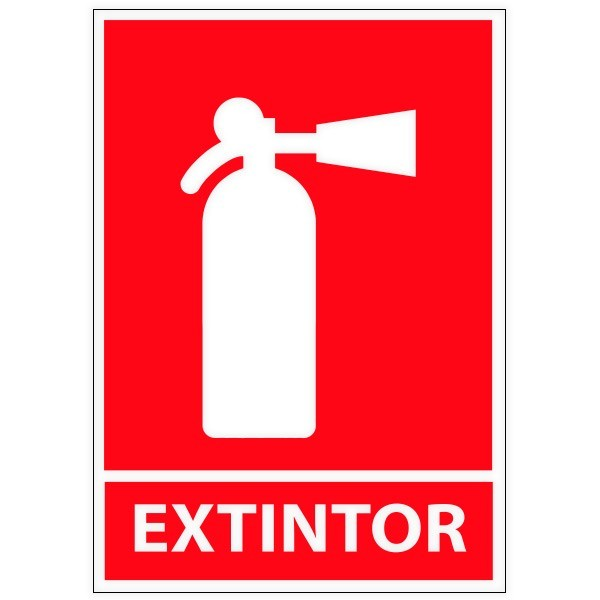 Vinil autocolante extintor