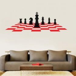 Adesivo de parede xadrez