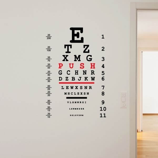 Autocolante decorativo oftalmologia