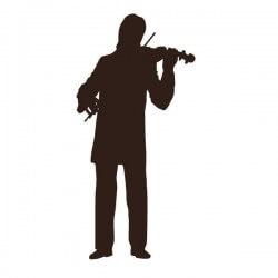 Vinil de música com violinista