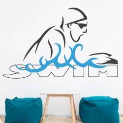 Vinil de parede Swim
