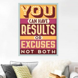"""Autocolante """"results or excuses"""""""