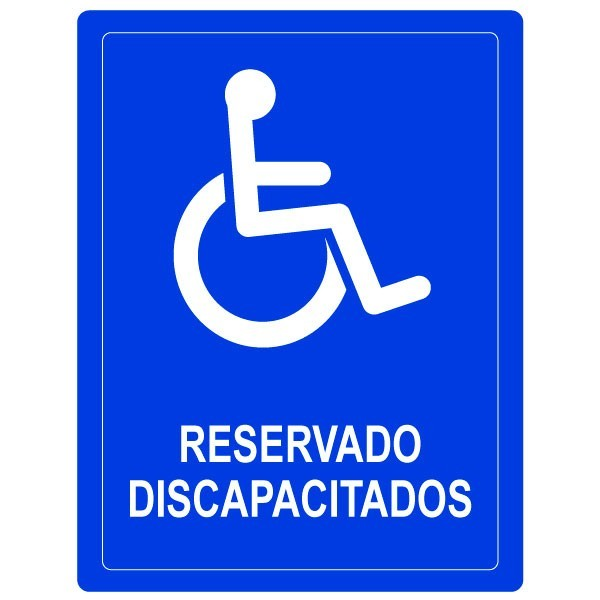 Vinilo reservado discapacitados