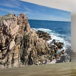 Foto mural mar e rochas