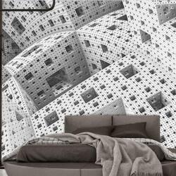 Papel de parede abstrato em 3D