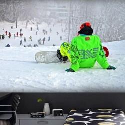 Vinil pintado pista de esqui