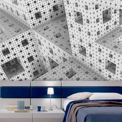 Mural de parede cubos 3D