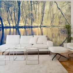 Mural de parede reflexo no rio