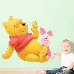 Autocolante Pooh e Piglet