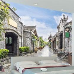 Papel de parede rua de pedra
