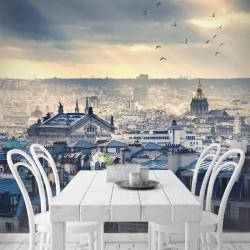Foto mural telhados de Paris
