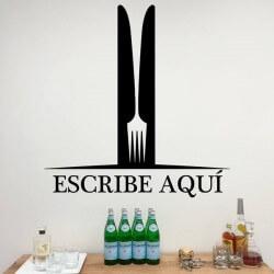 Vinil personalizado garfo
