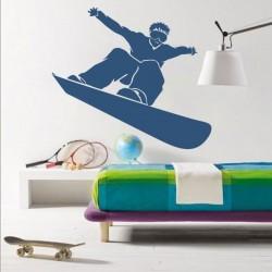 Vinil decorativo de snowboard