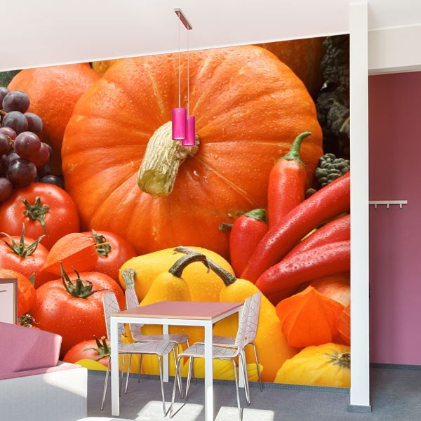 Mural de parede frutas e legumes