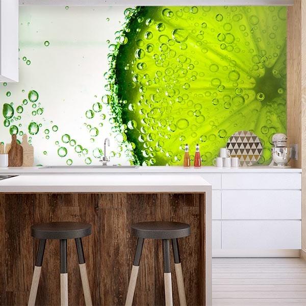 Mural de parede lima limão