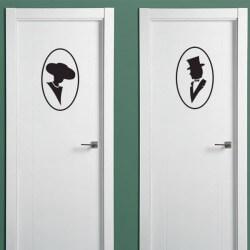 Vinil porta dama e cavalheiro
