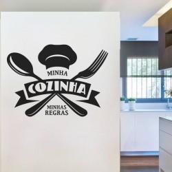 Vinil frases minha cozinha