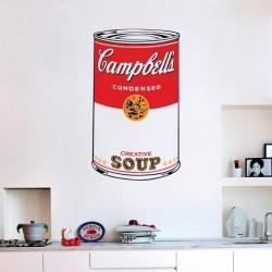 Autocolante pop art Campbell's soup