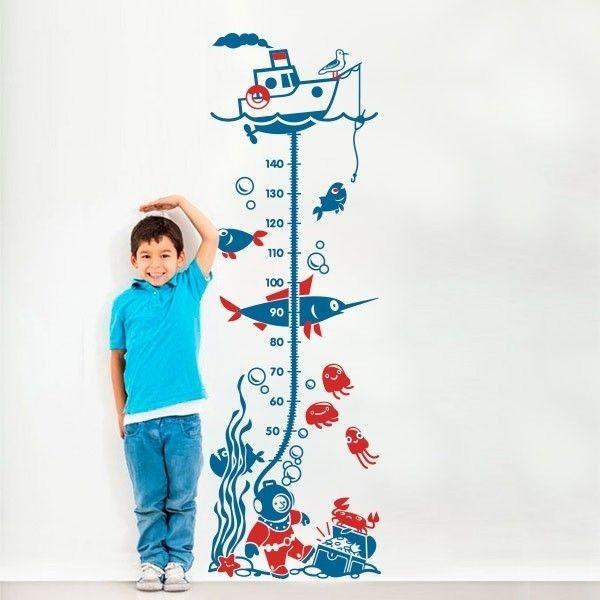 Autocolante medidor fundo do mar