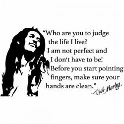 Autocolante de frases Bob Marley