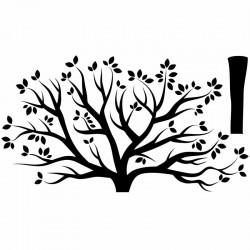 Autocolante árvore de Outono