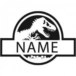 Autocolante de texto dinossauro