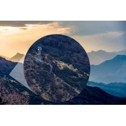 Mural floresta nos Himalaias