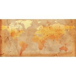 Mural mapa mundo vintage