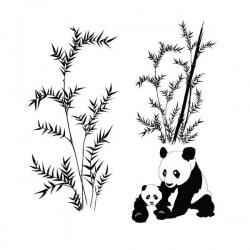 Vinil decorativo de pandas