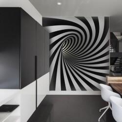 Vinil pintado de túnel 3D