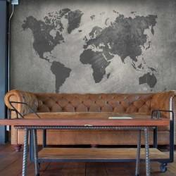 Foto mural textura mapa mundo
