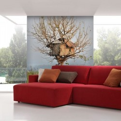 Vinil pintado casa árvore