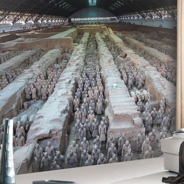 Mural Guerreiros de Terracota