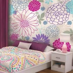Vinil pintado flores cores 4