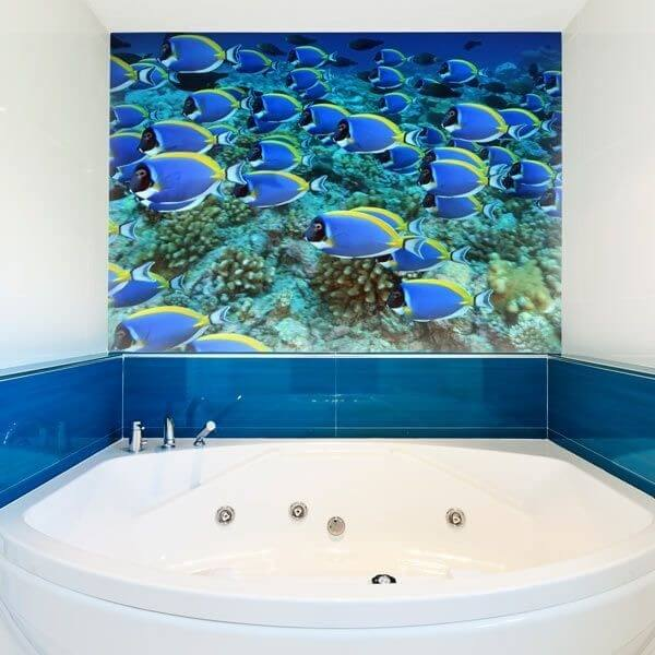 Papel Pintado Grupo de Peixes