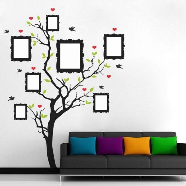 Árvore genealógica vinis decorativos papel de parede e textos em
