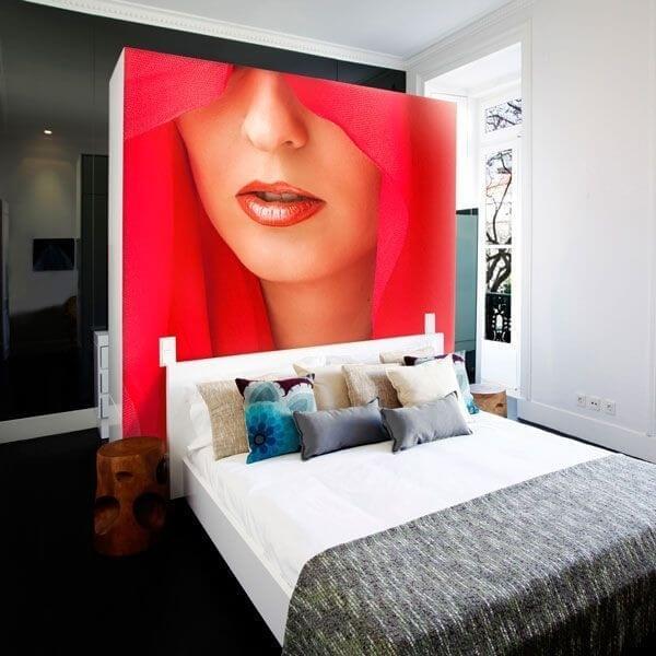 Foto mural mulher de vermelho