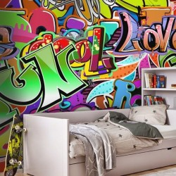 Papel pintado graffitis