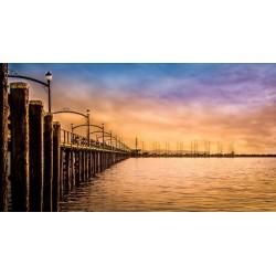 Vinil ponte de madeira 2