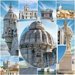Mural monumentos cidade de Lisboa