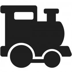 Vinil lousa comboio infantil