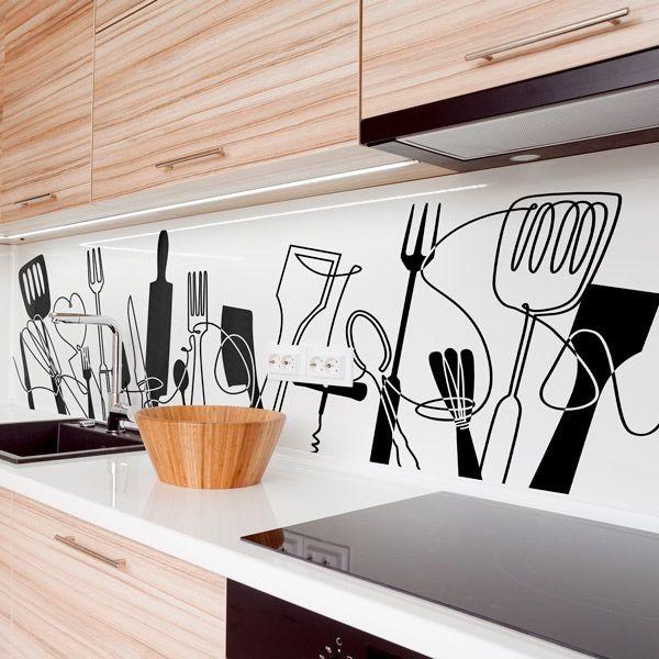 Autocolante utensilios de cozinha