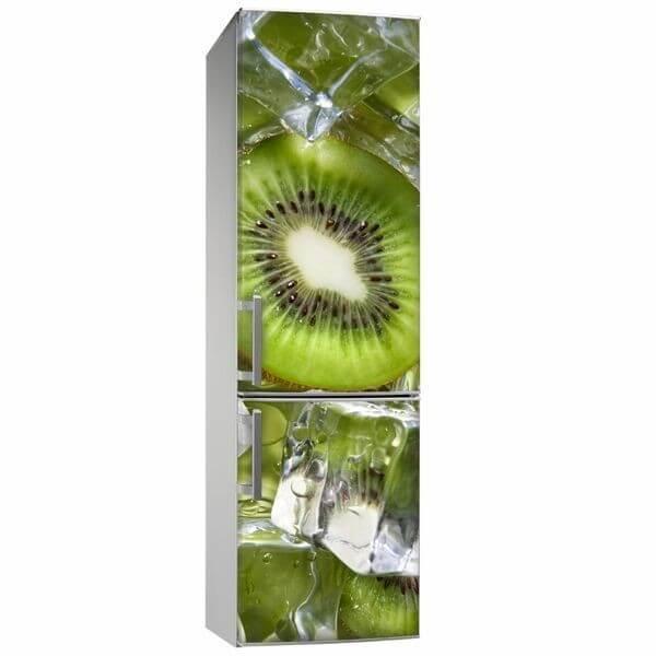 Vinil decorativo Kiwi e gelo