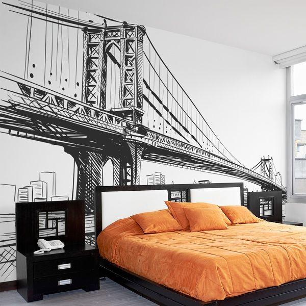 Mural ilustração ponte de Brooklyn
