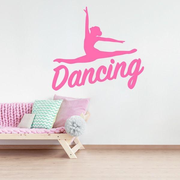 Adesivo decorativo silhueta dancing