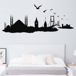 Vinil skyline cidade Istambul