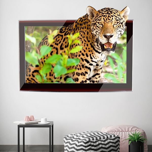 Adesivo Quadro 3D com tigre