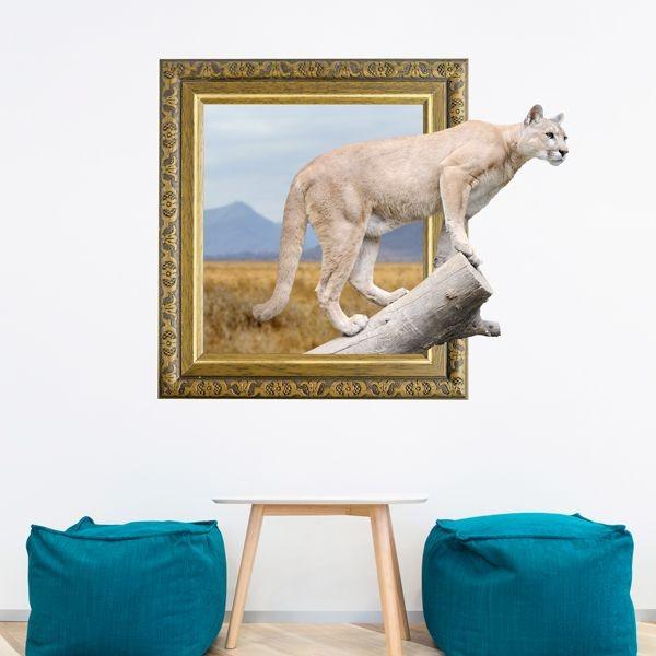 Autocolante quadro 3d com puma