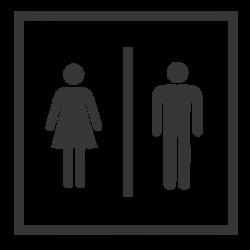 Adesivo para portas WC