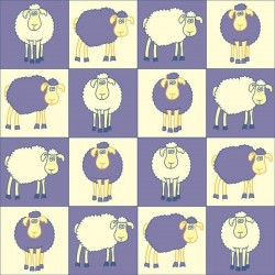 Vinil de parede ovelhas